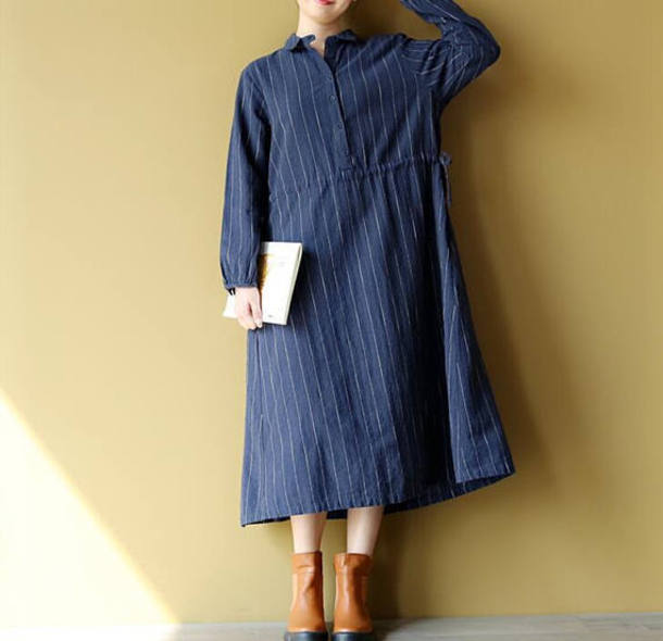 dress long striped dress