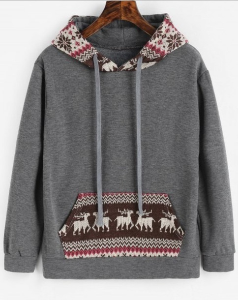 sweater girly grey grey sweater hoodie christmas sweater christmas