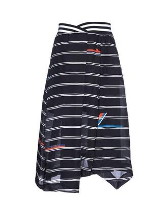 skirt high print black
