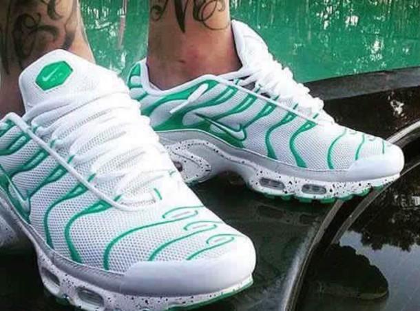 Shoes Nike Tn Green White Wheretoget