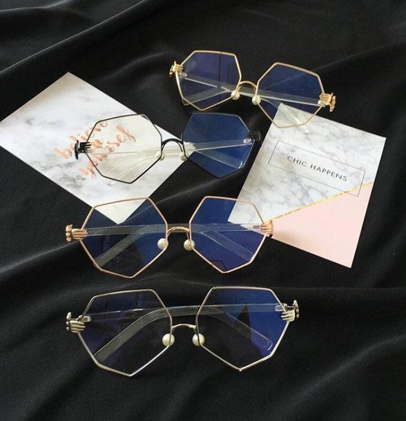 sunglasses girly metallic frame