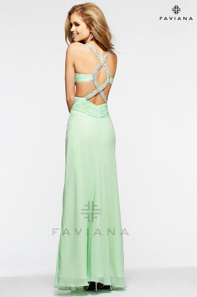 dress prom dress mint green dress backless dress cut outs on the back floor length