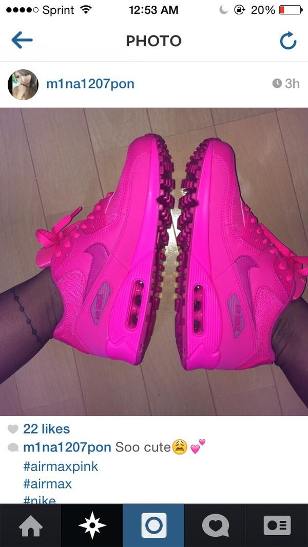 nike air max 90 hyper vivid pink