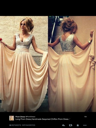 prom dress nude chiffon dress fashion formal dress australian brand