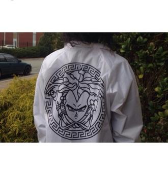 blouse versace inspired jacket versace t-shirt grunge palermo pale alternative dope fresh