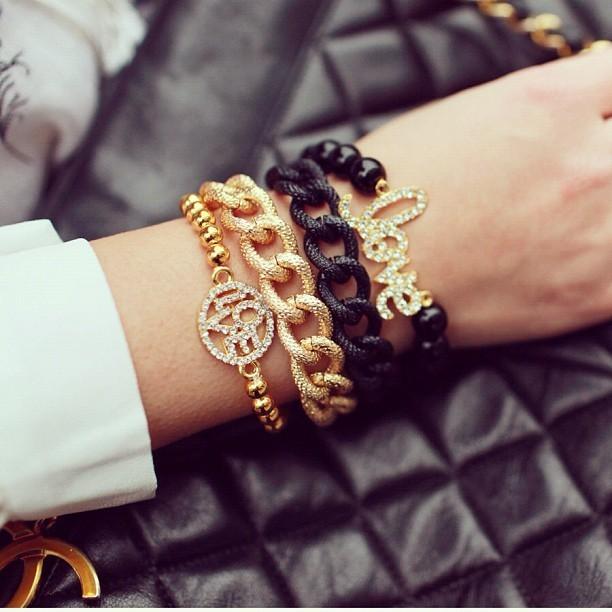 Texture chain link bracelet
