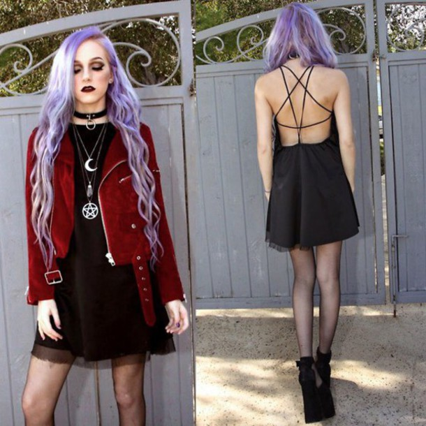 jacket red suede moon velvet black dress black dress mini dress pendant necklace amethyst crystal crystal choker necklace