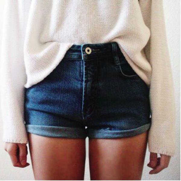 shorts denim shorts jumper sweater