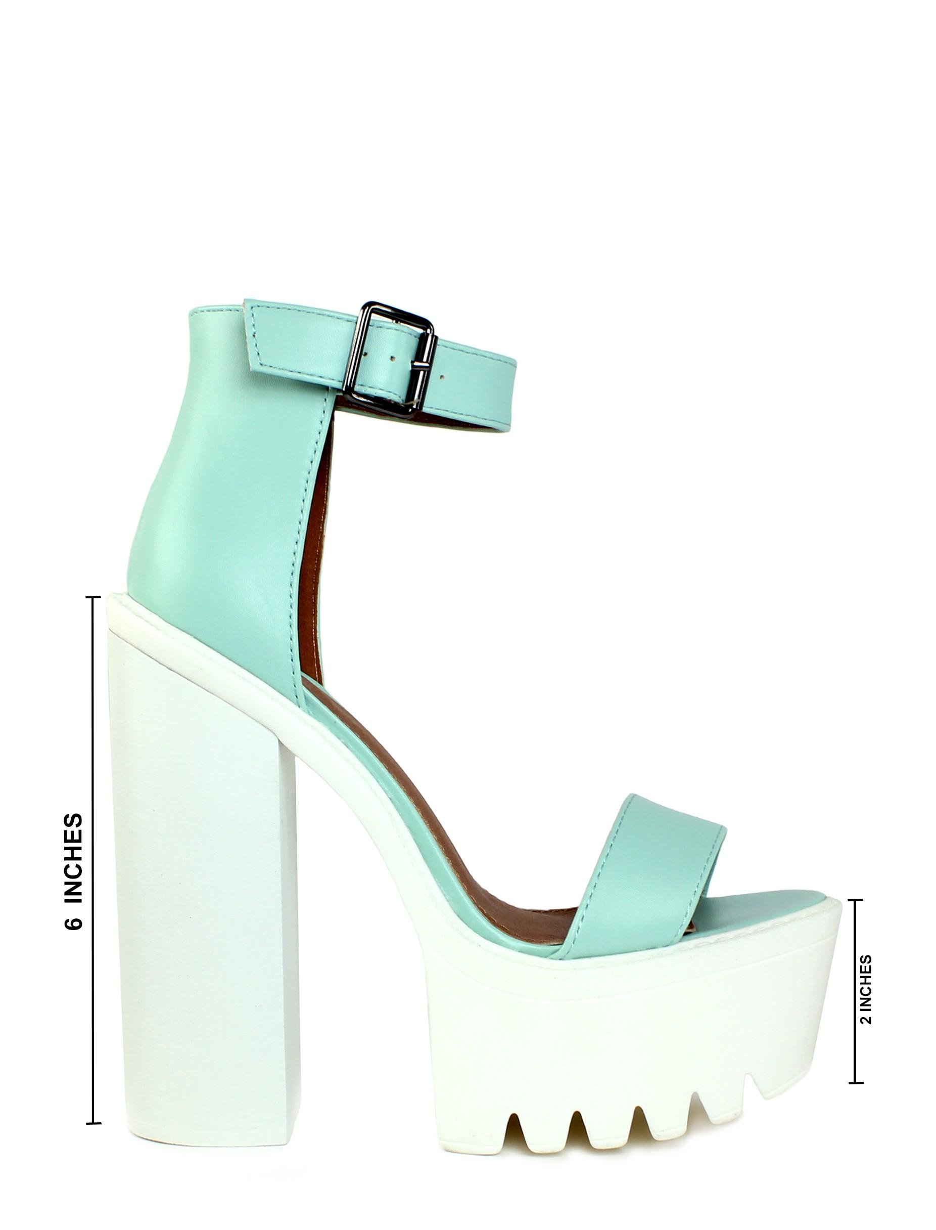 STEP IT UP MINT - PLATFORMS - Shoes - LAMODA