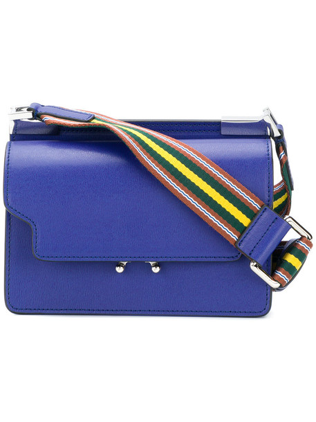 MARNI women bag shoulder bag leather blue