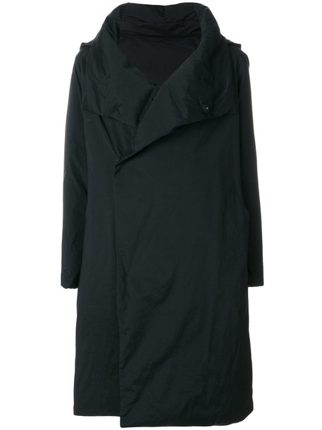 Plantation coat oversized women black