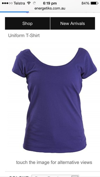 tank top purple or blue or black