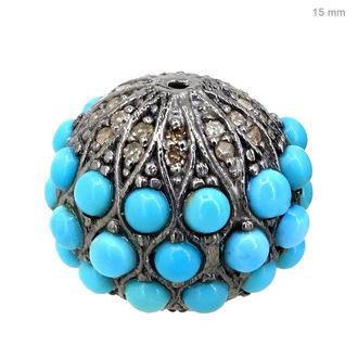 jewels pave diamond jewelry diamond ball finding ball finding jewelry sterling silver ball finding turquoise color stone finding turquoise findings
