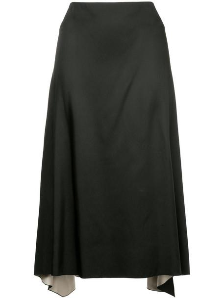 Jil Sander skirt midi skirt ruffle women midi black