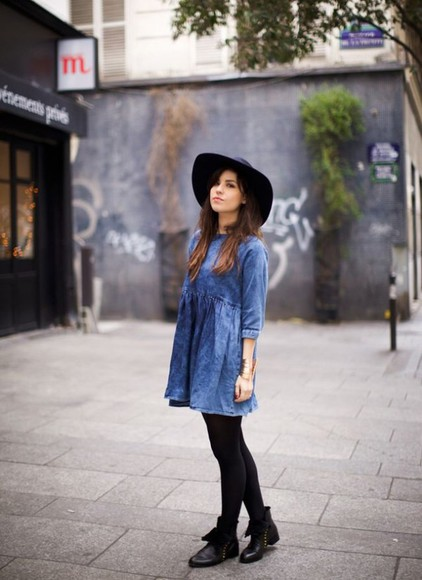 denim denim dress