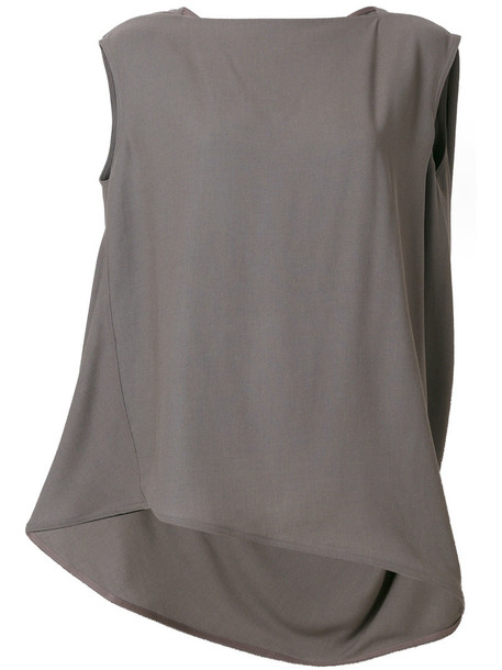 Rick Owens - Nouveau top - women - Viscose/Virgin Wool - 48, Grey, Viscose/Virgin Wool