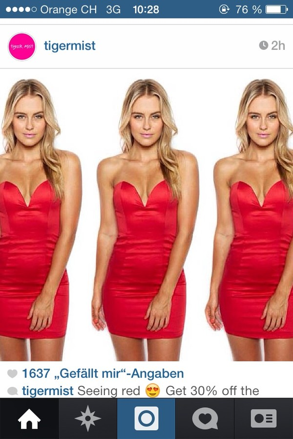 dress red dress v neck dress