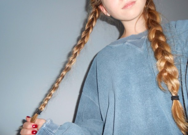 sweater blue sweatshirt tumblr girl cute oversized oversized sweater acid wash sweater urban hipster grunge goth hipster