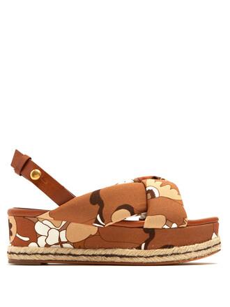 espadrilles floral print tan shoes