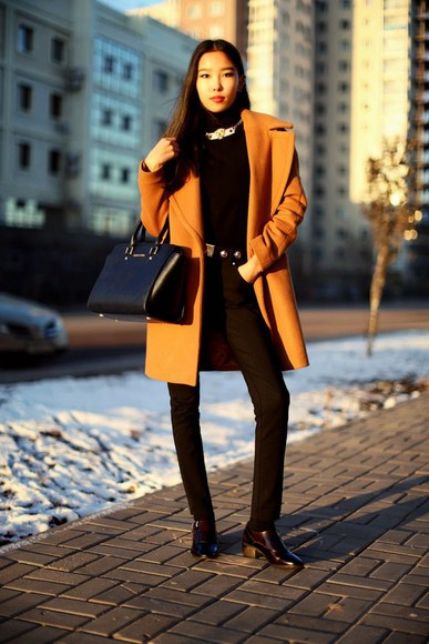 blogger bag winter outfits aibina's blog jewels camel coat