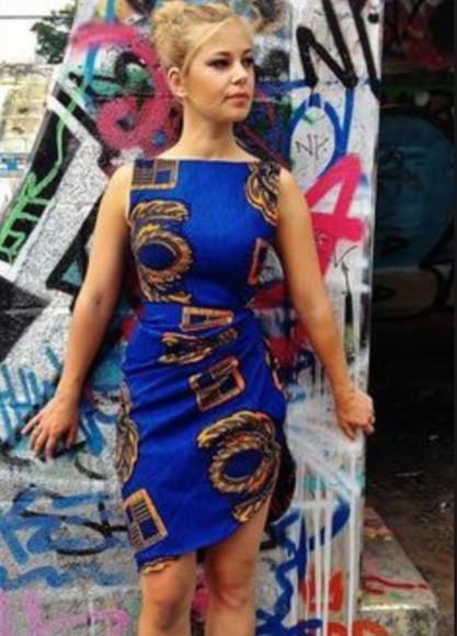 tribal pattern african print dress azize african print kente ankara