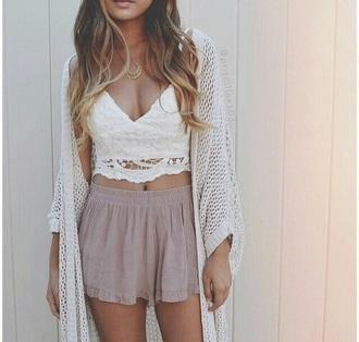 cardigan shirt skirt