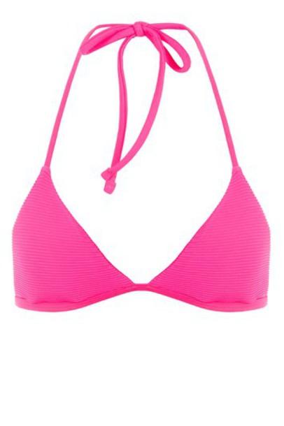 Topshop bikini bikini top triangle bikini triangle pink swimwear