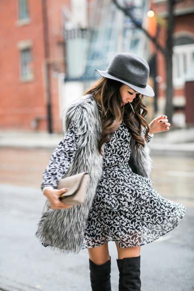 wendy's lookbook blogger jacket bag print faux fur