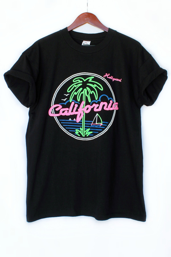 t-shirt hipster the golden state beach justvu.com california clothes menswear mens t-shirt menswear back to school palm tree print