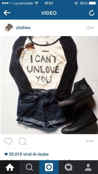 top t-shirt girly girly wishlist quote on it love quotes love lovely cool fashion style streetwear streetstyle sunglasses shorts denim shorts converse hipster goth hipster