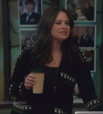 cardigan scandal quinn perkins katie lowes black and white