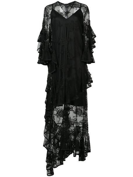 ellery gown sheer women embellished black dress