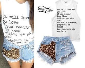 shirt madison beer true love studded shorts shorts