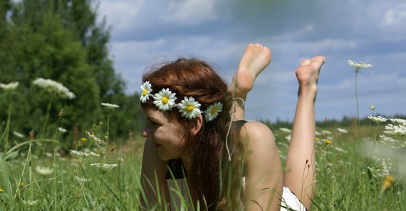 Daisy Headband Daisy Flower Crown Hippie Headband door DreamBlossoms