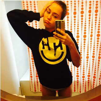 sweater celebrity style miley cyrus jumper
