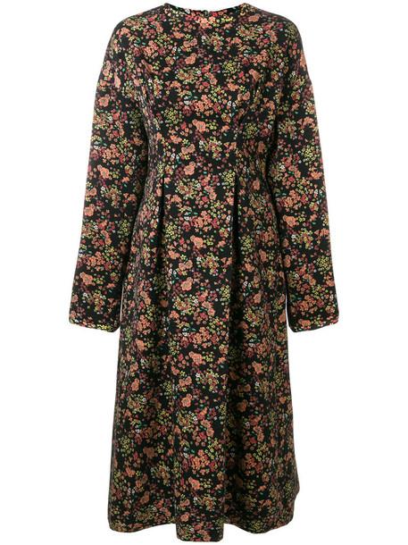 dress midi dress women midi jacquard floral wool