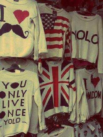t-shirt yolo union jack american flag shirt
