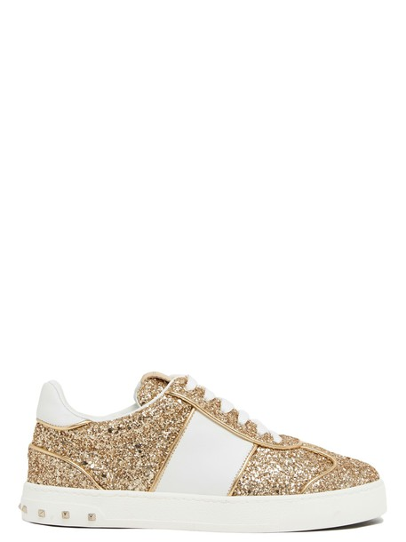 Valentino Garavani sneakers gold shoes