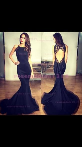 dress black dress lace dress mermaid prom dress prom dress