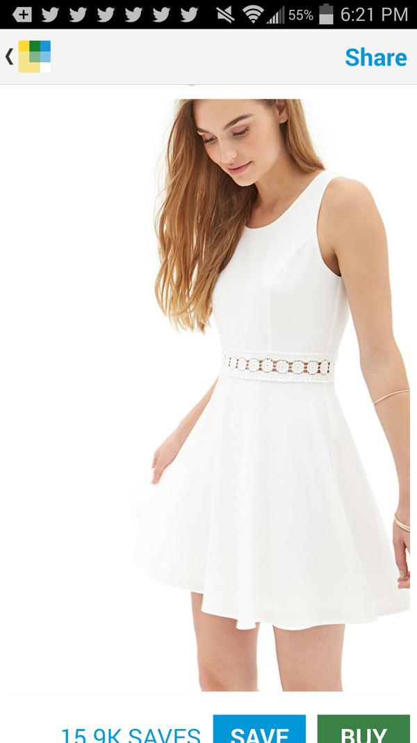 white dress floral dress dress