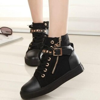 shoes black prom dress black shoes black boots black and gold gold gold chain