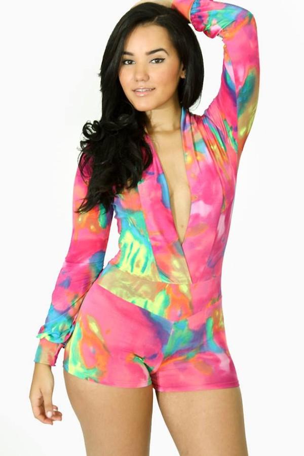 dress jumpsuit romper bodycon multicolor multicolor sexy Maëva