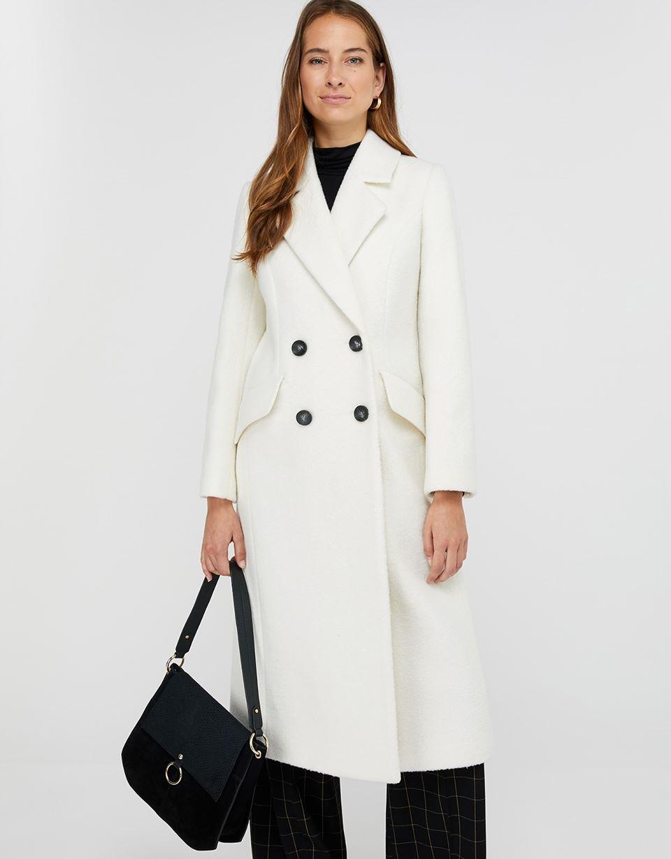 Wanda White Maxi Coat