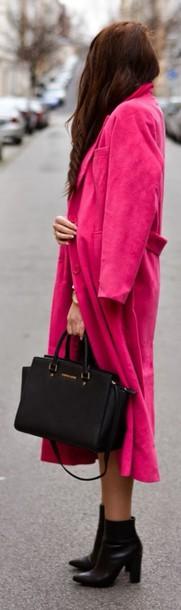 coat rose magenta dress