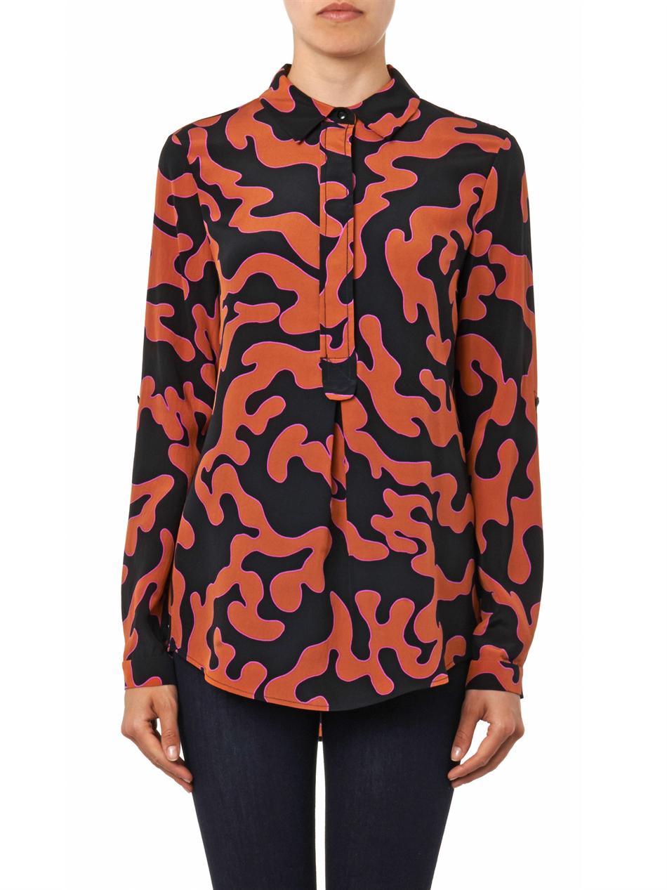 Firebird-print shirt   Diane Von Furstenberg   MATCHESFASHION.COM