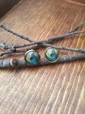 jewels,the glitzy hen,gold,gold earrings,stud earrings,peacock earrings