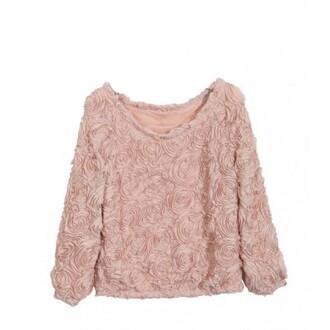 blouse roses pastel pink