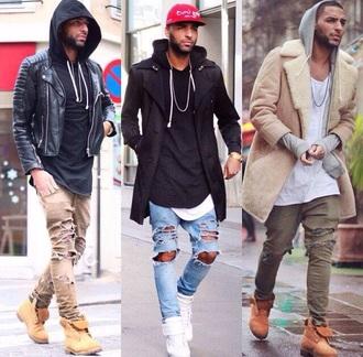 coat dope ripped jeans menswear mens jacket mens pants urban menswear jeans