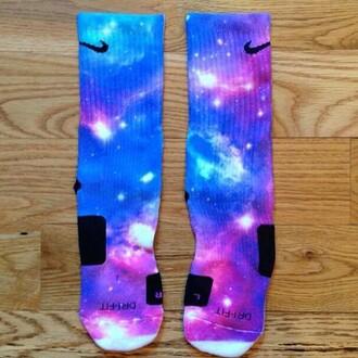 socks nike socks galaxy print