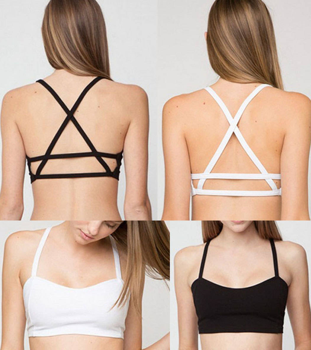 4a7b96c6ae Women Bra Bralette Caged Back Bralette Crop Top Sexy Women ...